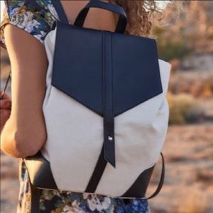 HOT!!! Duex Lux Demi Backpack. White/Black NEW!!!